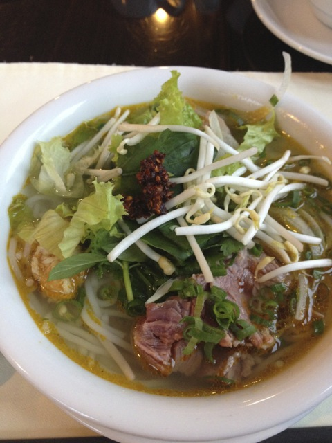 This is the ultimate Hue specialty called Bun Bo Hue which I wanted to try outside the hotel but I didn't have enough number of meals to do so.