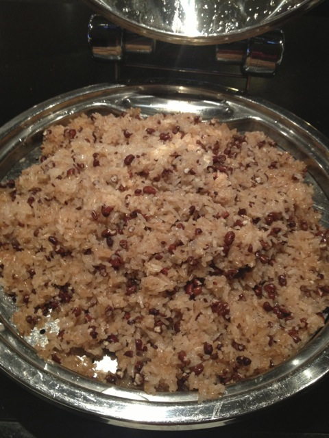 "What the Japanese call ""osekihan"" meaning literally ""red rice"" generally made with sticky rice and red beans.  Apparently there are other versions of the dish in other parts of Asia, Vietnam being one of them."