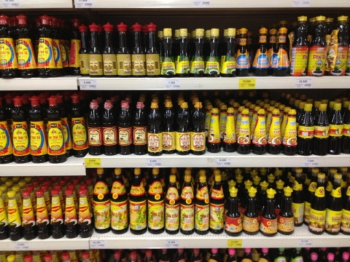 So many fish sauces.