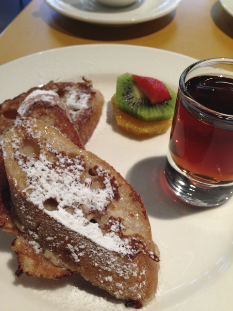 French toast on the second morning.