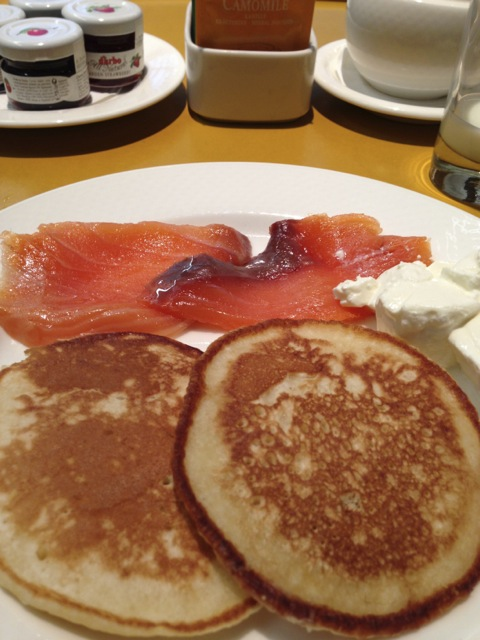 Blini, Russian pancakes, and served in the shape and style I liked!