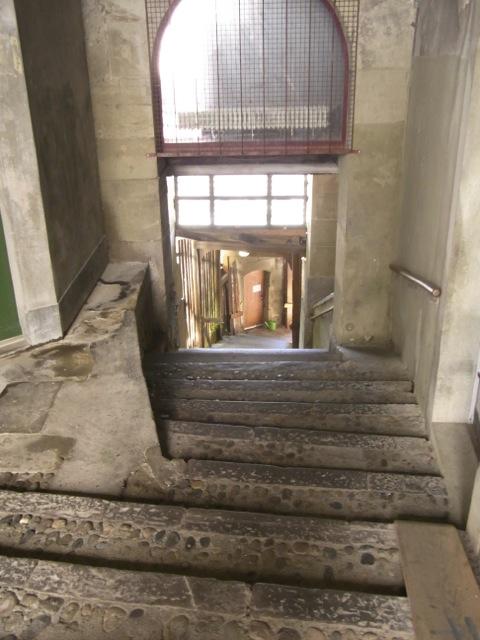 It's actually a staircase.