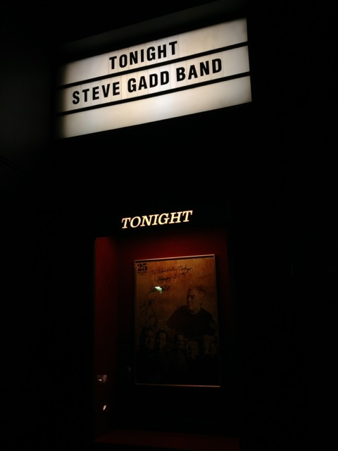 The Steve Gadd Band @ the Blue Note Tokyo.  How amazing is Steve Gadd when he performs with other people's drummer but he is extra extraordinary in his own band.  A great experience.