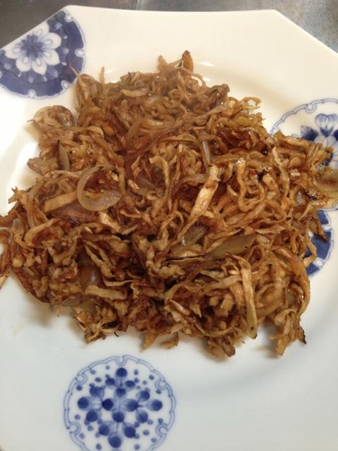 Mock yakisoba (fried noodles)