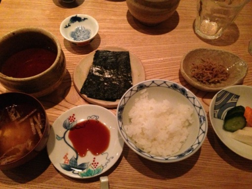 In September I took a guest out to a Japanese restaurant in Tokyo, one that I frequent.  I knew the food was going to be good and the rice at the end was exceptional but it was more the company that made this dinner a particularly special one.