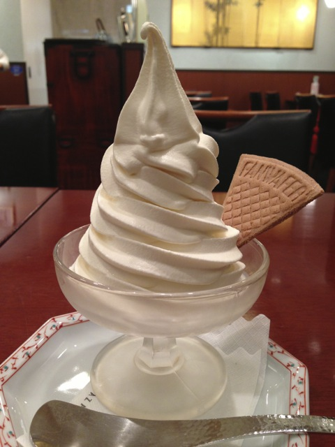 I had so many soft-serve ice cream cones this year.  This one from November I had in Hibiya is though good nothing special.  I was just so surprised by the sheer size of it.