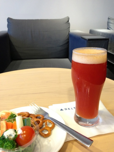 """The usual """"airport in the morning"""" drink."""