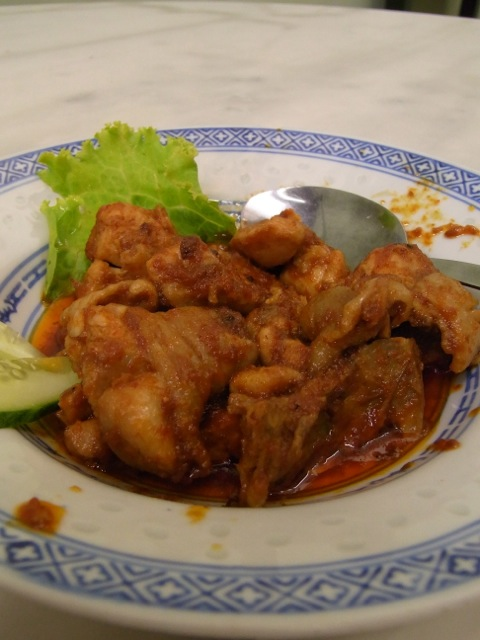 My spicy chicken dish.  Very aromatic.  Spicy at first but after a while, it just becomes a nice complicated mixture of spices and not hot spicy.