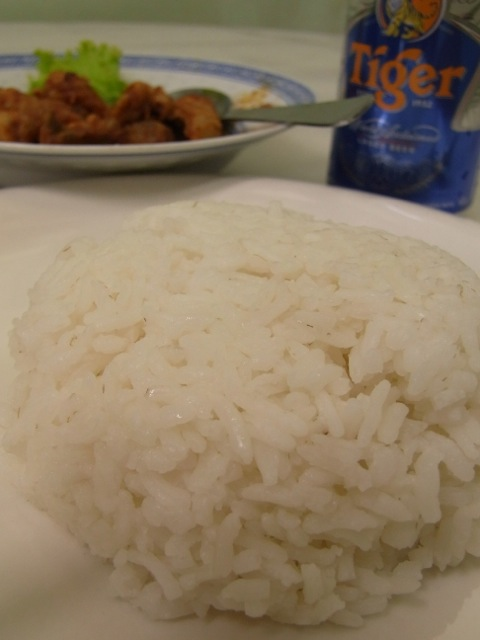 Rice to go with the chicken.