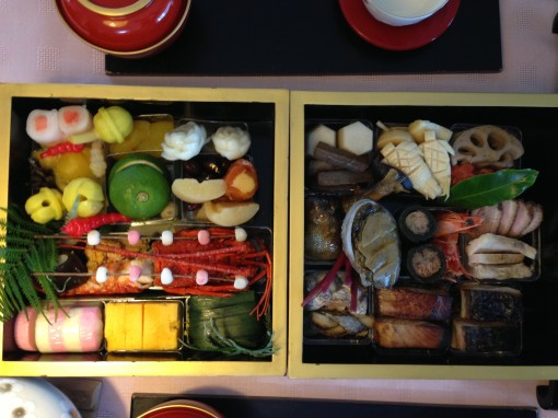 Osechi from one of my favorite restaurants.  Mother's homemade version is better but she stopped making it several years ago and I never carried on the tradition so here we are.
