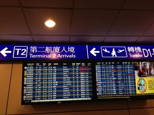 In Taipei, Taiwan for my next flight to Hong Kong.