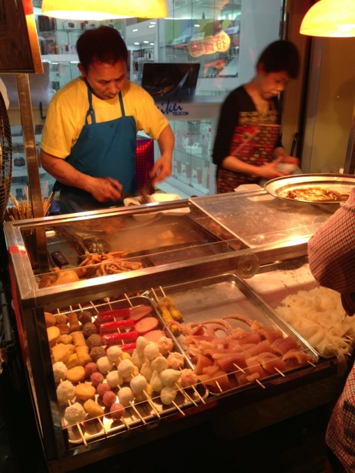 """What he is cooking and selling is the Macanese version of what we call """"oden""""."""