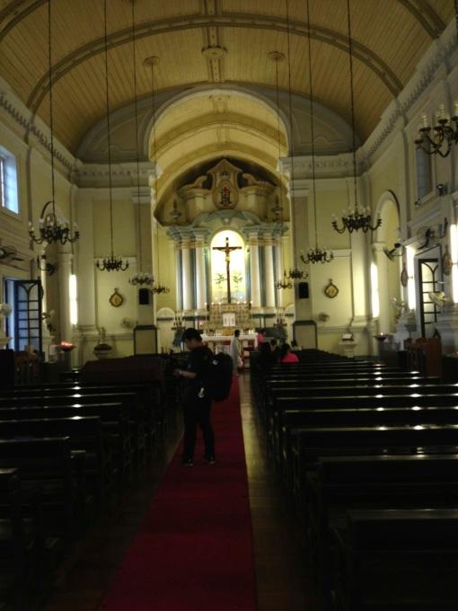 Inside St. Anthony's Church