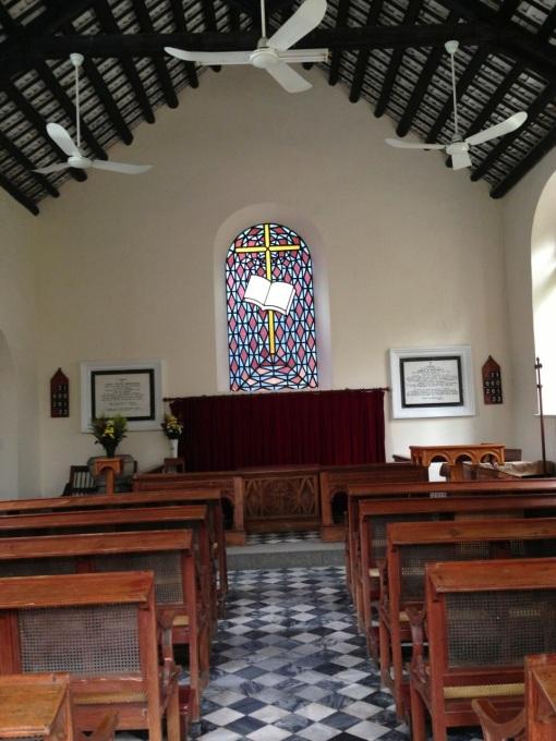Inside Macau Protestant Chapel