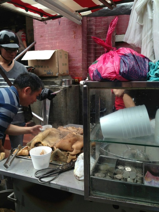 This stall was doing great business next to the Red Market.