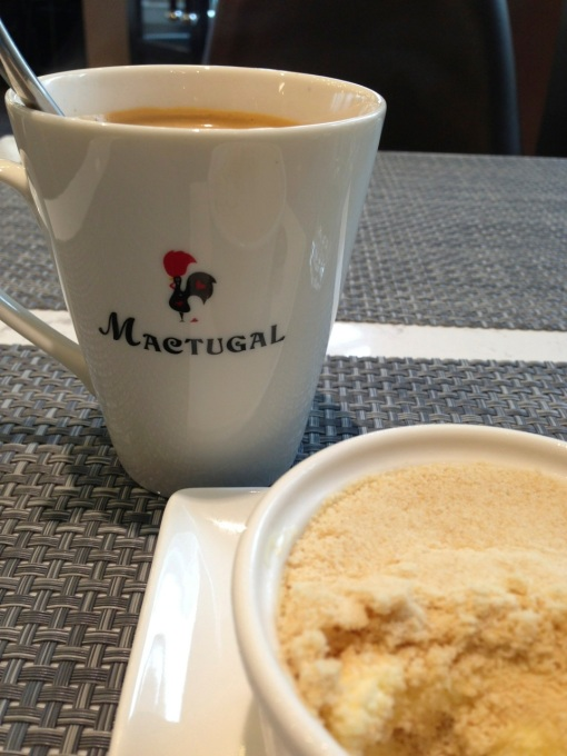 With Portuguese coffee.