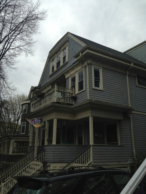 We lived on the third floor of this three-story, three-family house.