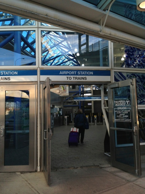 Can this be the newest line?  The Blue Line that goes through the Logan Airport looks clean and modern.