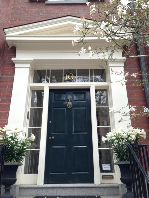 No. 10 Louisburg Square is where Louisa May Alcott, the author of Little Women lived.