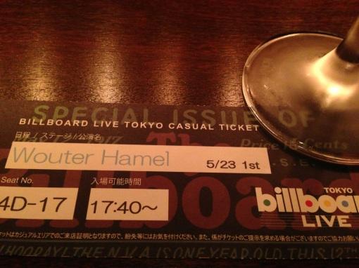 Wouter Hamel @ Billboard Live Tokyo