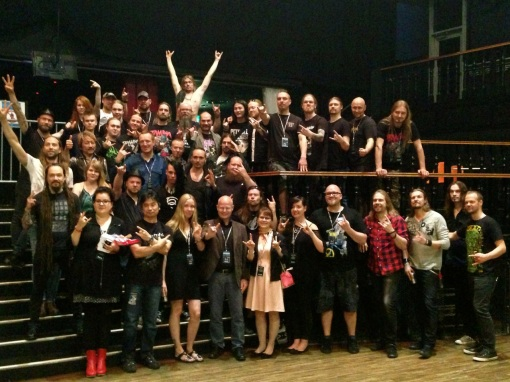 The current Ambassador of Finland to Japan and his wife are a lovely couple who appreciate not just rock music but the heavier stuff.  They stand out in this pic in the front row.