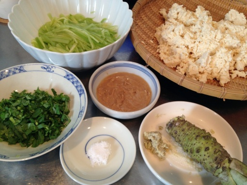 The recipe didn't say I had to use fresh wasabi but I did anyway.