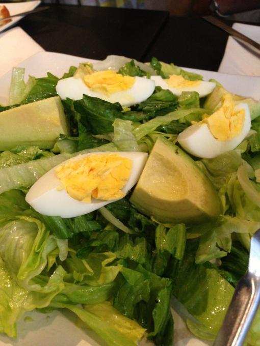 This simple salad was soooo good.