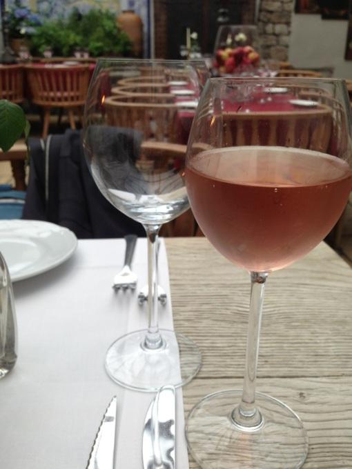 Local wine.  A nice rosé.