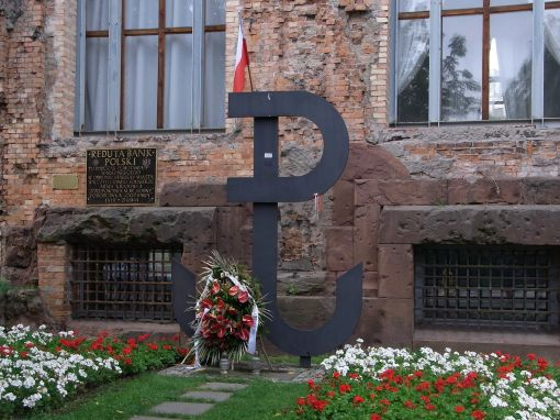 This you saw everywhere, in memory of the Warsaw Uprising in 1944.  This years marks its 70th anniversary.