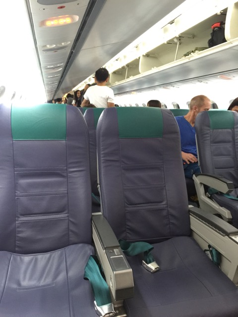 I had seat 1D.  I didn't know until I got there that it faced backwards towards the rest of the plane.  I fly a lot but that was a first for me.  Perfectly comfortable BTW.