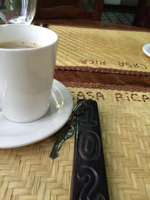 Breakfasting @ hotel in Vigan.  The coffee was served sweet.