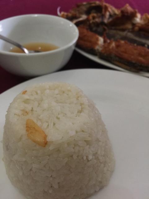 Garlic rice.  The waiter kept offering me the garlic rice.  Not bad.