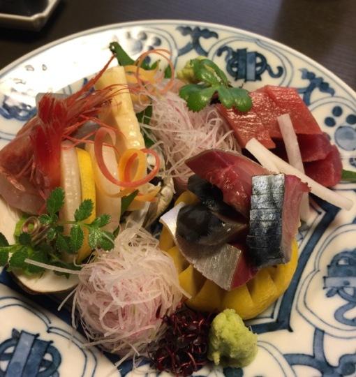 Sashimi for non-vegetarians.