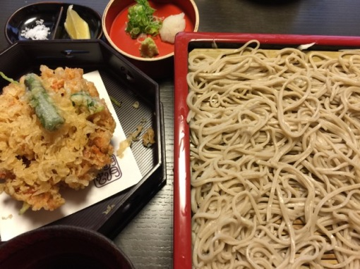 My soba-kakiage set lunch.