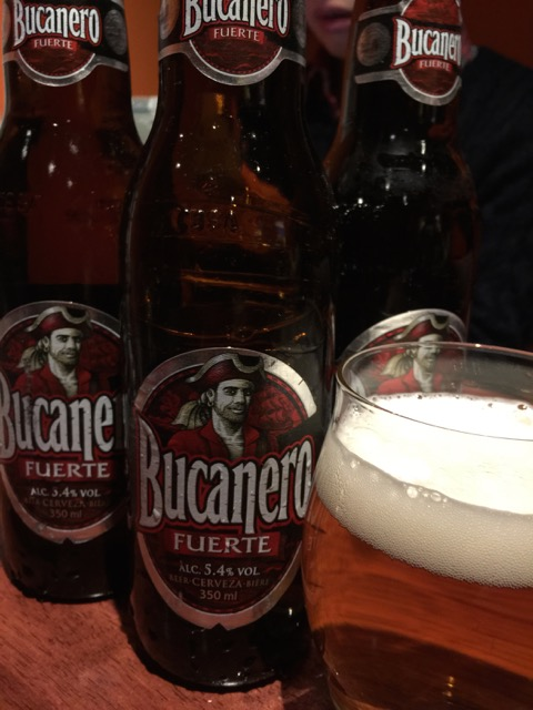 Cuban beer to start.