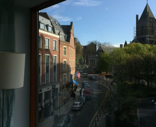View of Christ Church Cathedral from apartment