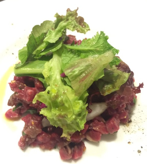 More Italian in Kagurazaka.  @ Lastricato.  Horse meat carpaccio.