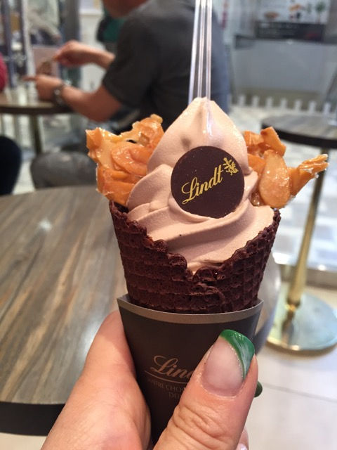 Chocolate (light) soft-serve @ Lindt Chocolat Cafe in Kitasenju