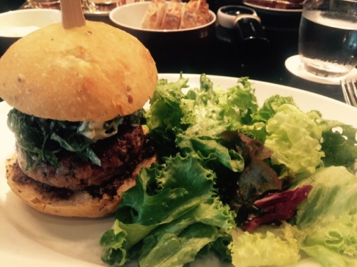 Lamb burger @ The Oak Door @ Grand Hyatt Tokyo