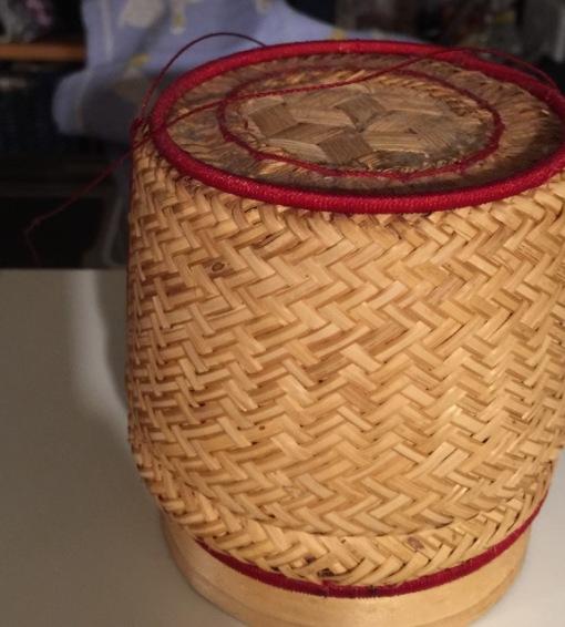 My Lao rice basket I got in Vientiane.