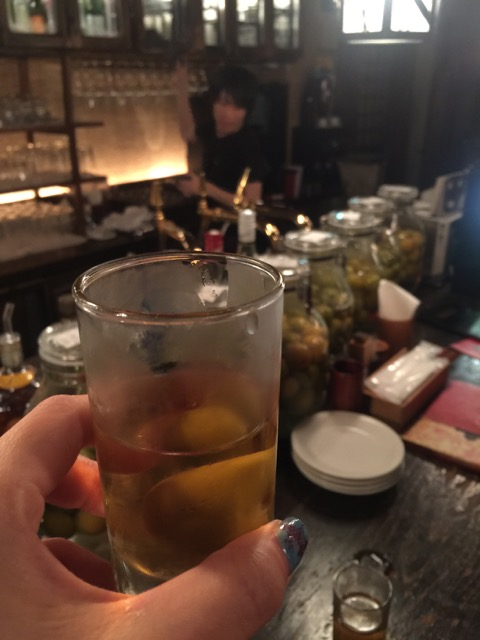 And the birthday boy was dying to try the umeshu - the plum wine.