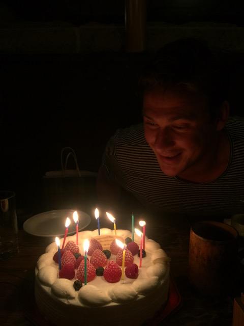 Then the birthday cake.