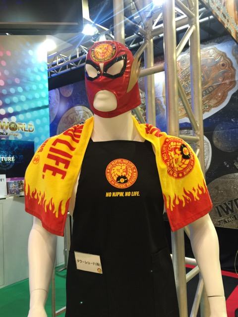 A collaboration between New Japan Pro-Wrestling and Tower Records @ the wrestling organization's stand