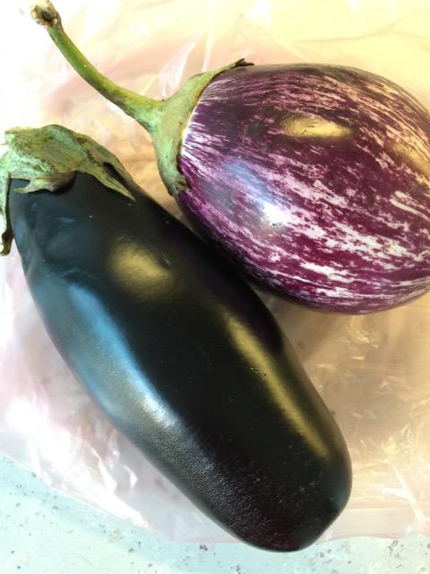 The eggplants I bought.
