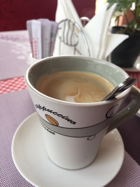 The coffee is sweet.