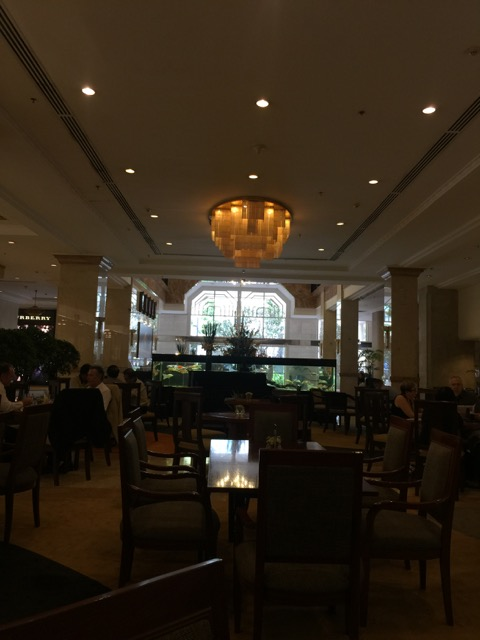 The view in the lobby bar/cafe at Rex Hotel