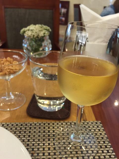 Onto a glass of white