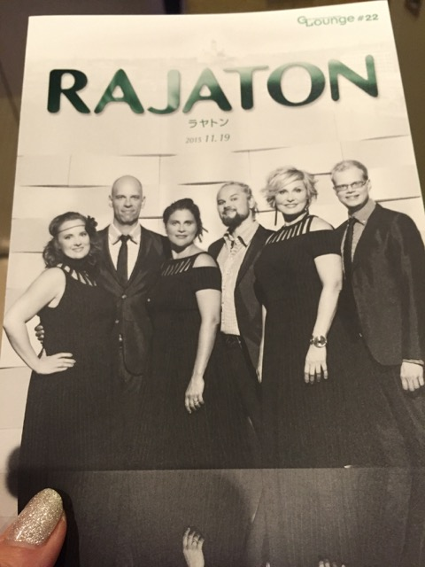 Rajaton, a Finnish a cappella group, at the Oji Hall