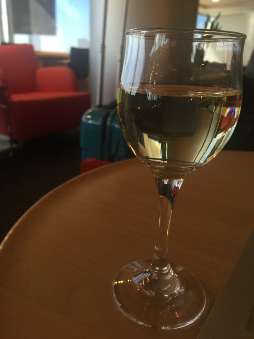 So shocked that Air France got rid of its lounge at Narita which means no Champagne...