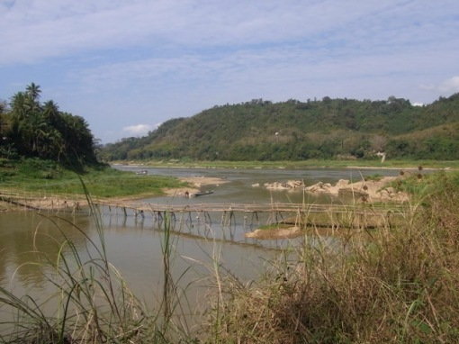 As seen from the other side overlooking the Mekong River
